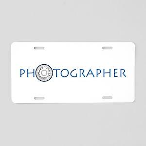 PHOTOGRAPHER-DIAL-BLUE- Aluminum License Plate