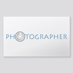 PHOTOGRAPHER-DIAL-BLUE- Sticker (Rectangle)