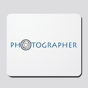 PHOTOGRAPHER-DIAL-BLUE- Mousepad