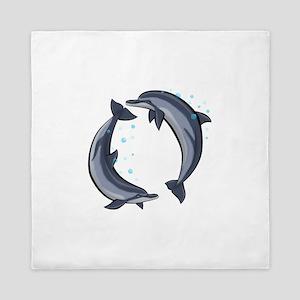 Spinner Dolphins Queen Duvet