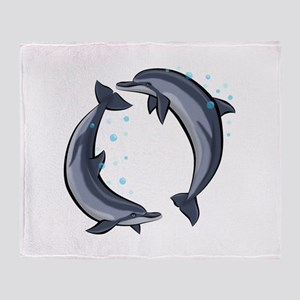 Spinner Dolphins Throw Blanket