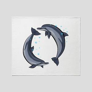 Spinner Dolphins Throw Blanket