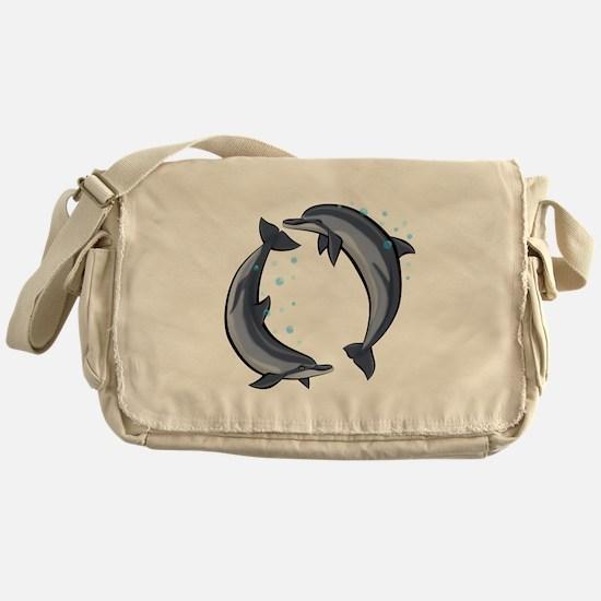 Spinner Dolphins Messenger Bag