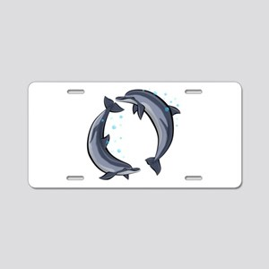 Spinner Dolphins Aluminum License Plate