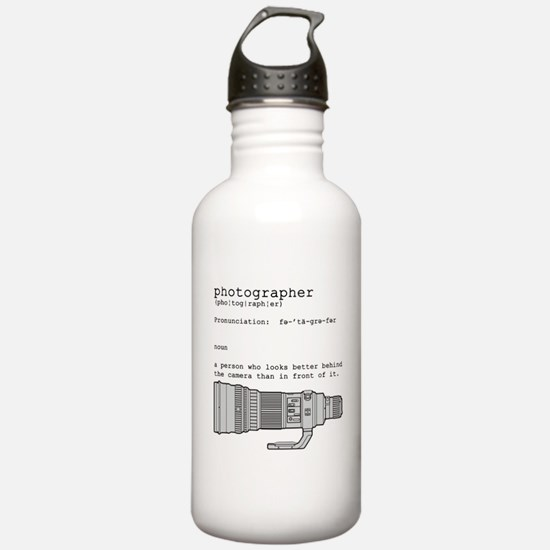 Definition and vintage camera Water Bottle