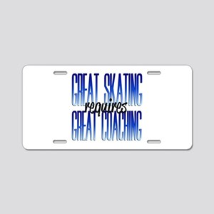 Great Coaching Aluminum License Plate