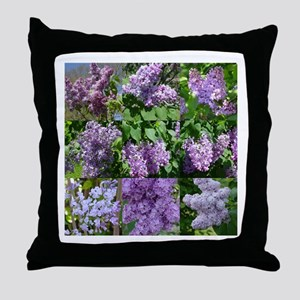 Lilac Collage #16 Throw Pillow
