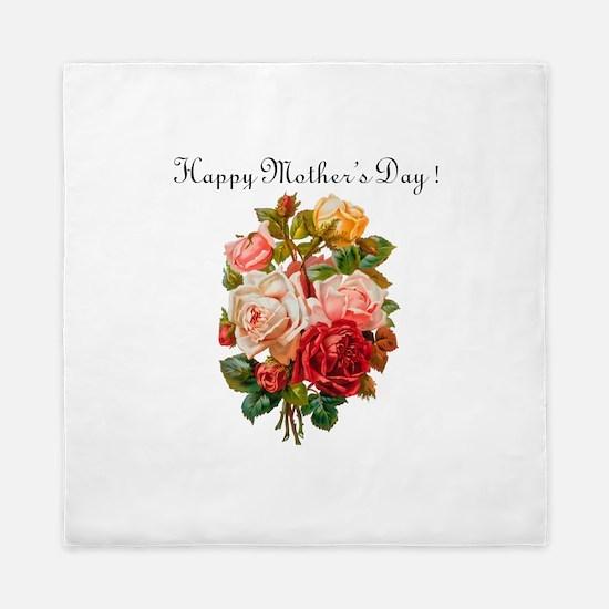 """""""Mother's Day Roses"""" Queen Duvet"""