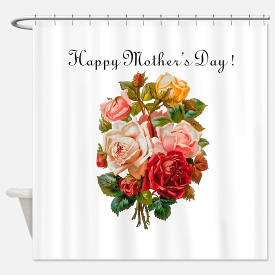 """""""Mother's Day Roses"""" Shower Curtain"""