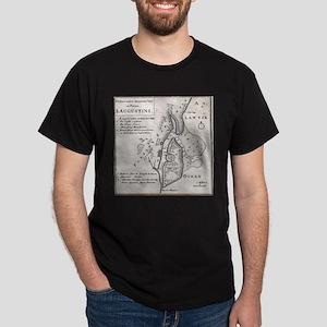Vintage Map of St. Augustine Florida (1737 T-Shirt