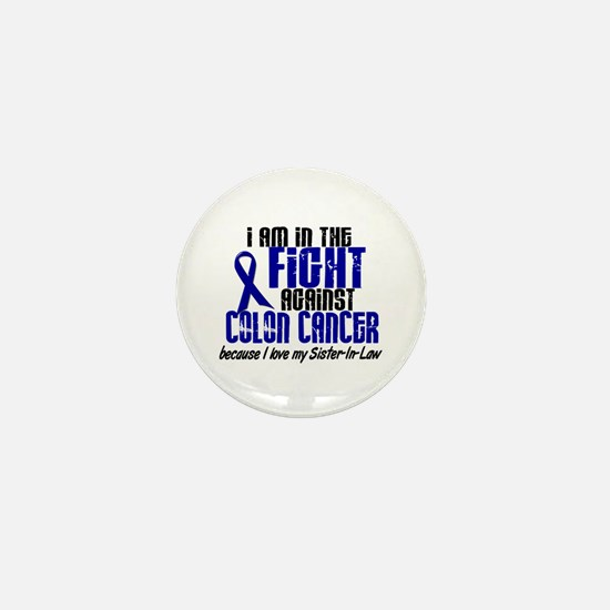In The Fight Colon Cancer Mini Button