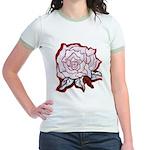 Floral Themes Jr. Ringer T-Shirt