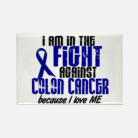 In The Fight Colon Cancer Rectangle Magnet (10 pac