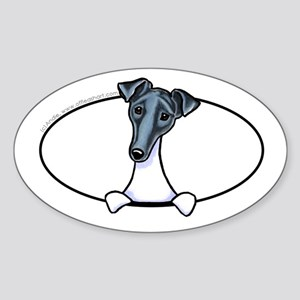 Smooth Fox Terrier Peeking Bumper Sticker (Oval)