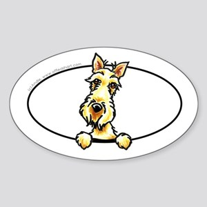Wheaten Scottie Peeking Bumper Sticker (Oval)