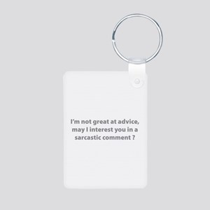 Sarcastic Comment Aluminum Photo Keychain