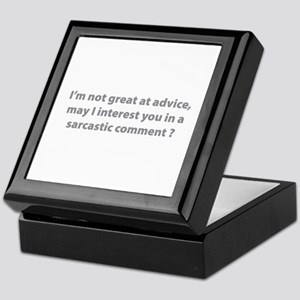 Sarcastic Comment Keepsake Box