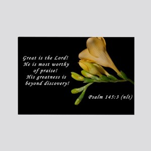 Psalm 145:3 Rectangle Magnet