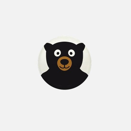Cute Brown bear Mini Button