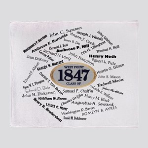 West Point Class of 1847 Throw Blanket