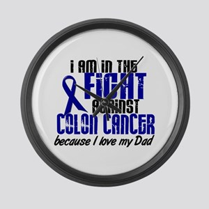 In The Fight Colon Cancer Large Wall Clock