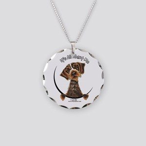 WH Pointing Griffon IAAM Necklace Circle Charm