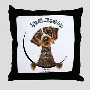 WH Pointing Griffon IAAM Throw Pillow
