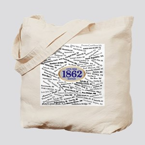 1862 Civil War Battles Tote Bag