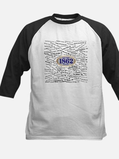 1862 Civil War Battles Kids Baseball Jersey