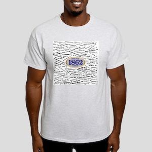 1862 Civil War Battles Light T-Shirt