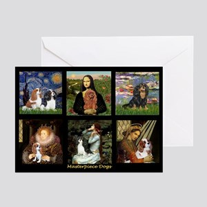 Cavalier king charles spaniel greeting cards cafepress cavalier famous art comp1 greeting cards pk of 10 m4hsunfo