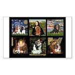 Cavalier Famous Art Comp1 Sticker (Rectangle)