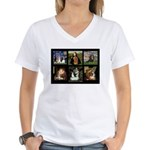 Cavalier Famous Art Comp1 Women's V-Neck T-Shirt