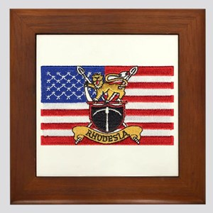 U.S.A. Rhodesia Flag Framed Tile