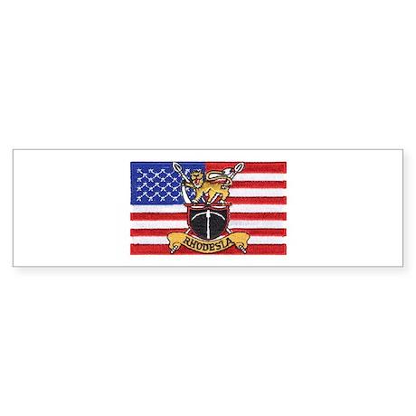 U.S.A. Rhodesia Flag Sticker (Bumper)