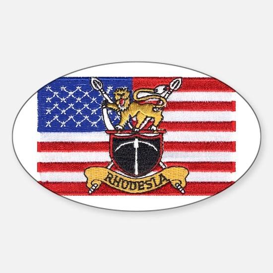 U.S.A. Rhodesia Flag Sticker (Oval)