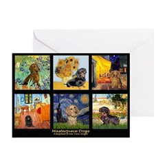 Dachshund Famous Art 1 Greeting Cards (Pk of 10)