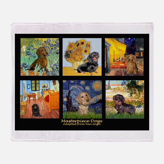 Dachshund Famous Art 1 Throw Blanket