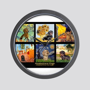 Dachshund Famous Art 1 Wall Clock
