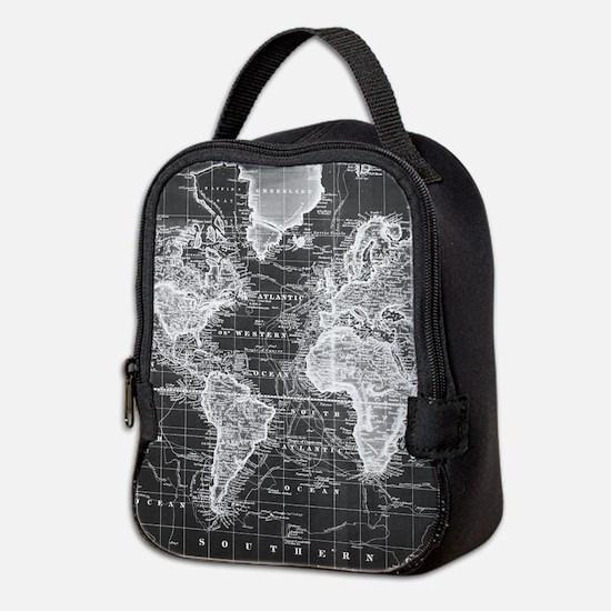 Vintage Map of The World (1833) Neoprene Lunch Bag