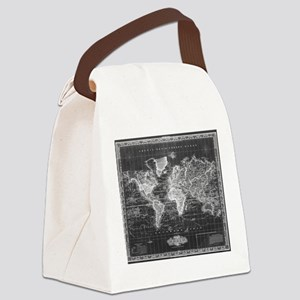 Vintage Map of The World (1833) B Canvas Lunch Bag