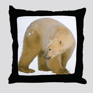 Polar Bear 2 Throw Pillow