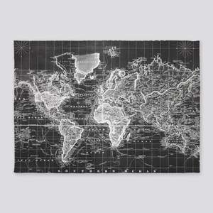 Old World Map Area Rugs CafePress - Old world map rug