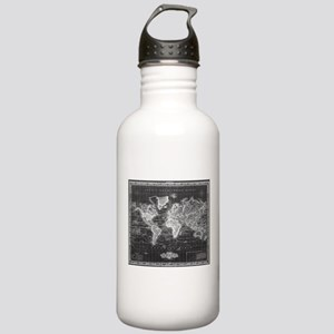 Vintage Map of The Wor Stainless Water Bottle 1.0L
