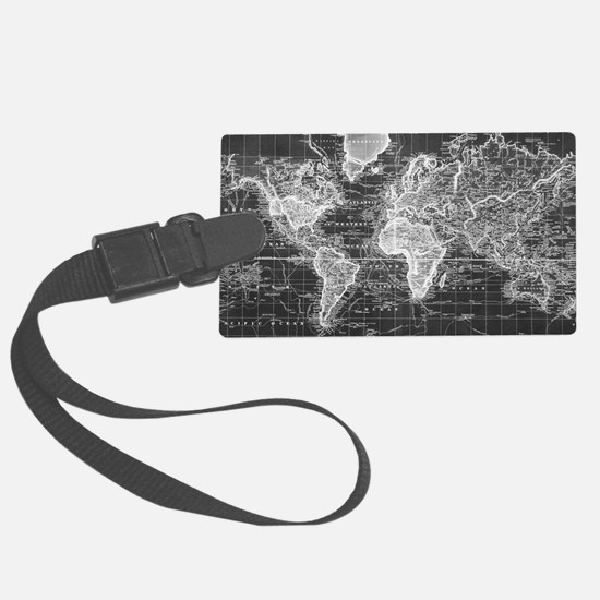 World map travel accessories luggage tags handle wraps valets vintage map of the world 1833 luggage tag gumiabroncs Images