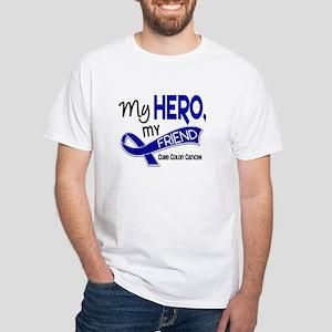 My Hero Colon Cancer White T-Shirt