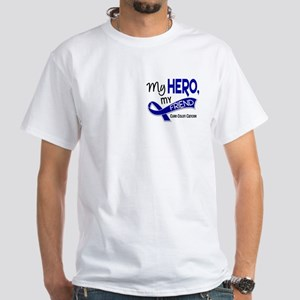 My Hero Colon Cancer White T-Shirt