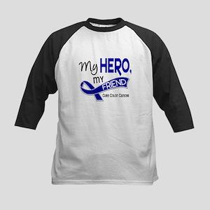 My Hero Colon Cancer Kids Baseball Jersey
