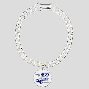 My Hero Colon Cancer Charm Bracelet, One Charm