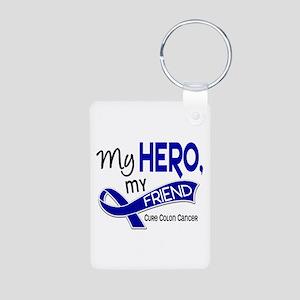 My Hero Colon Cancer Aluminum Photo Keychain